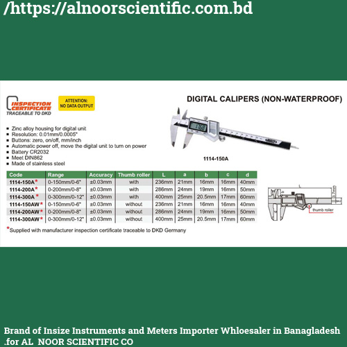 Digital Vernier Caliper Price in Bangladesh